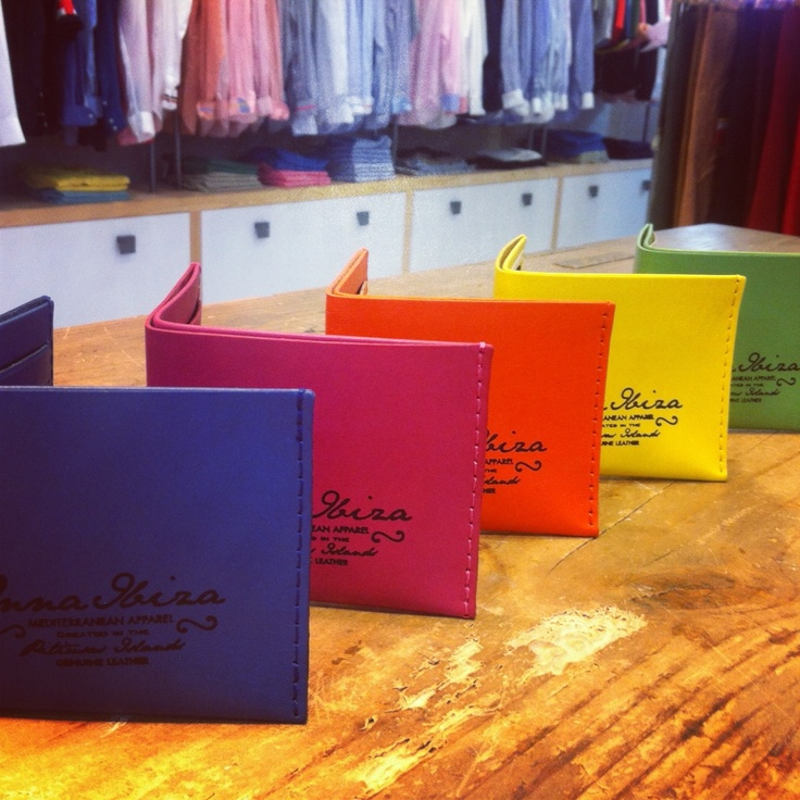 Leather colorful wallets from Onna Ibiza.