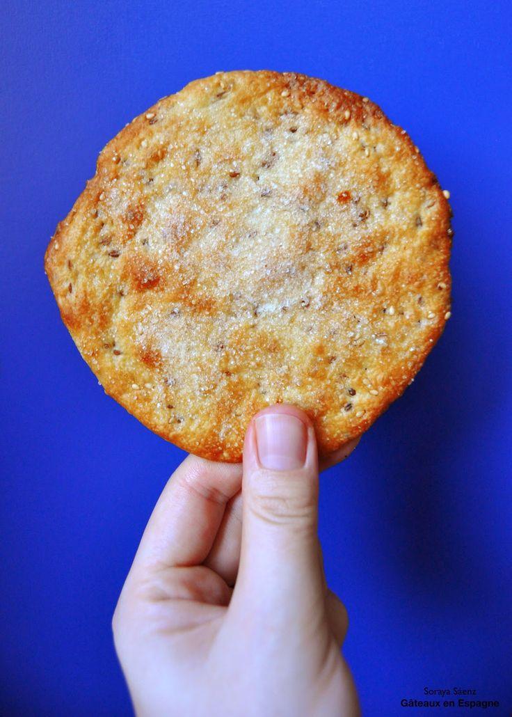 Biscuits espagnols croustillants au sésame et à l'anis vert: tortas de aceite…