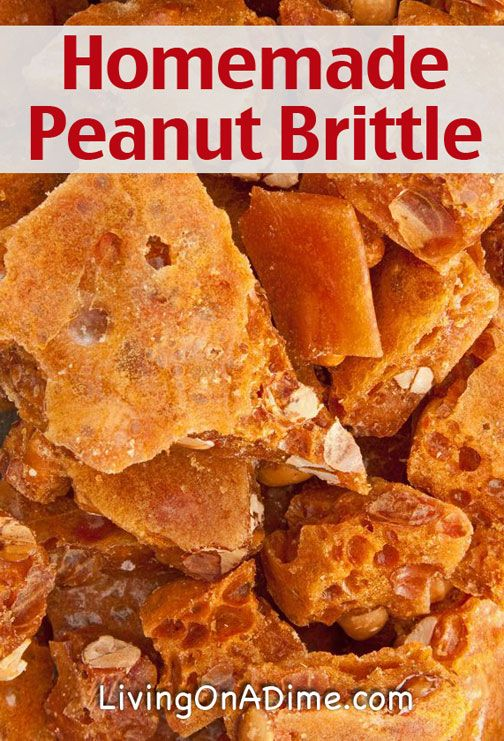 Homemade Peanut Brittle Recipe - We love candies for Christmas way more than cookies, so we especially love making candy making this time of year. English Toffee is my favorite candy but homemade peanut brittle is my 2nd favorite and to be honest, it's almost tied for #1! This peanut brittle is so simple to make and costs just about $3! It may seem complicated but once you get it down, you will make it every year!