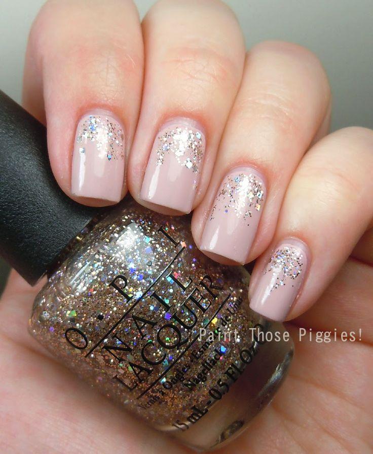 Gradual glitter gel nails