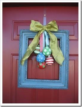 Neat wreath idea: Holiday, Christmas Decoration, Wreath Idea, Wreaths