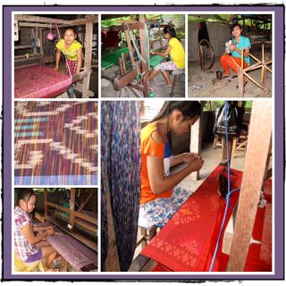 Traditional weaving in the village of Sideman