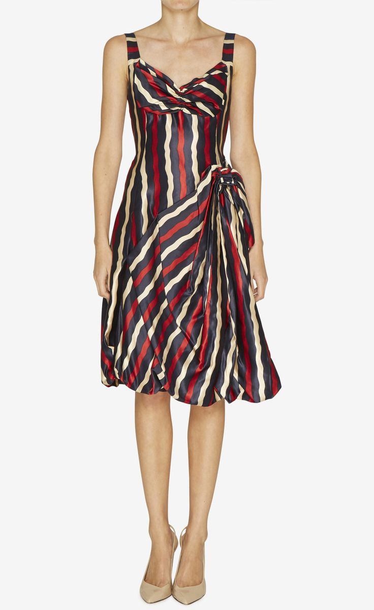 Marc Jacobs Blue, Red And Tan Dress | VAUNTE