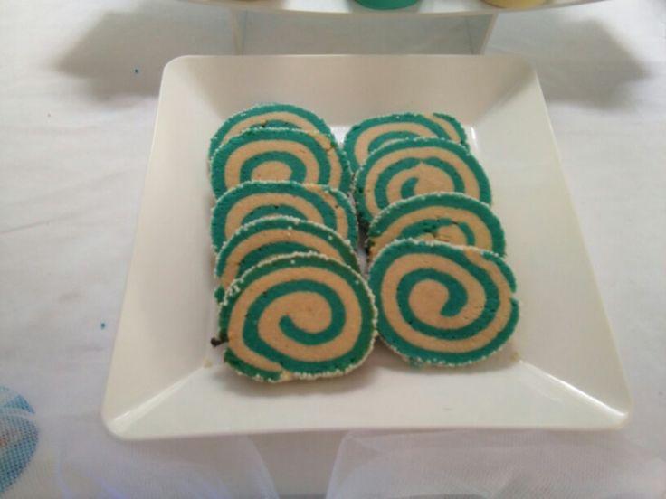 Cumple frozen - galletas en espiral