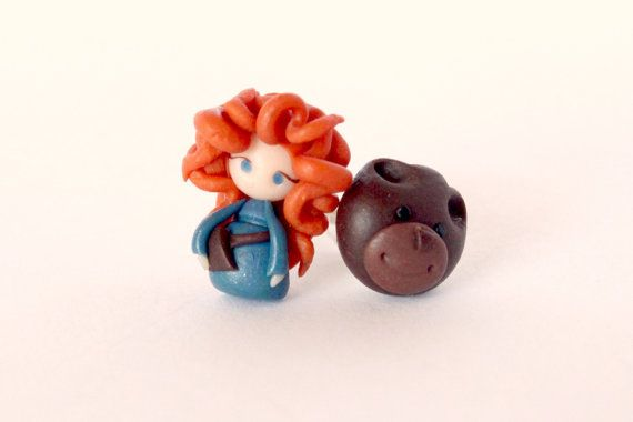 Hey, I found this really awesome Etsy listing at https://www.etsy.com/listing/181822781/merida-rebel-earrings-and-mother-bear