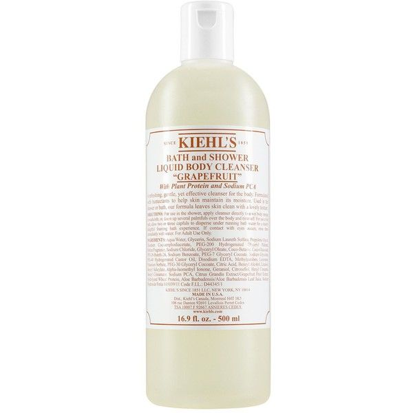 Kiehl's Since 1851 Liquid Body Cleanser in Grapefruit 16 oz. (33 CAD) ❤ liked on Polyvore featuring beauty products, bath & body products, body cleansers and grapefruit