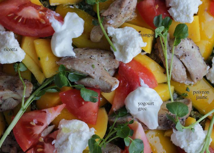 Au gré du marché: Salade de poulet et de quinoa : une inspiration de Jamie Oliver pour mes 4 ans de blog culinaire