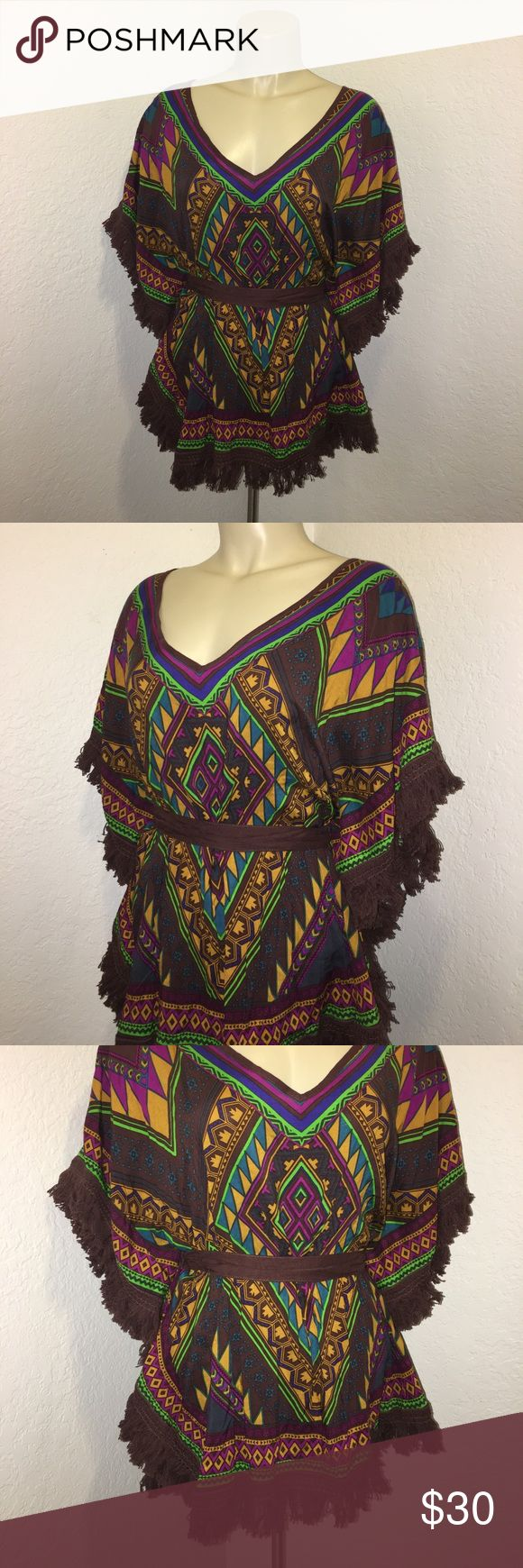 Flying Tomato Boho Fringe Aztec Festival Blouse Stunning blouse in excellent brand new with tags condition. Size large. Brand: Flying Tomato. Super chic and stylish. Boho fringe festival blouse top. Flying Tomato Tops Blouses