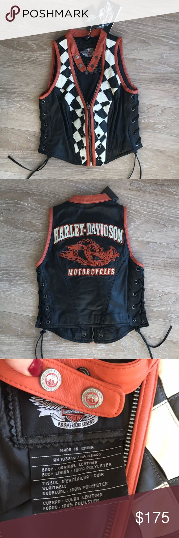 Harley Davidson Vest In great condition! Brand new Make me an offer. No trades. Smoke free home. 10% off bundle of 3 or more! ❤️😄 Harley-Davidson Jackets & Coats Vests