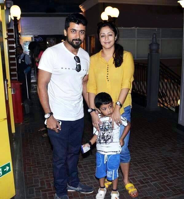Jyothika with Surya