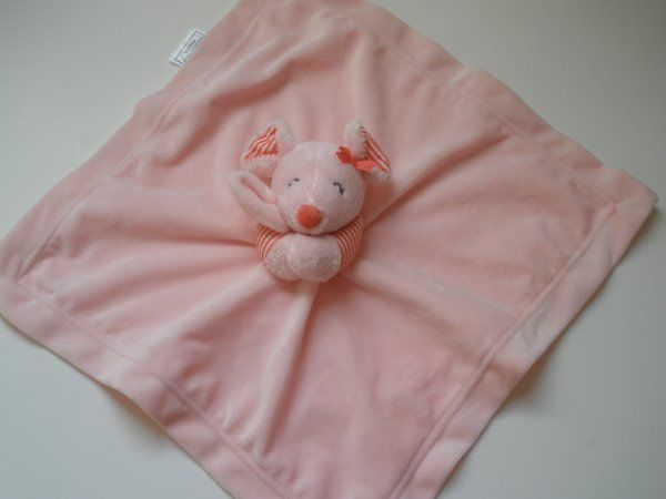 NWOT New Carters Pink Mouse Striped Bow Security Blanket Rattle Plush Baby Toy - http://baby.goshoppins.com/toys/nwot-new-carters-pink-mouse-striped-bow-security-blanket-rattle-plush-baby-toy/