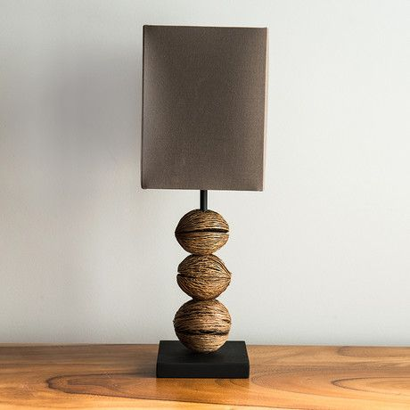 Superior With A Base Made Entirely Out Of Coconut Husks, This Tropical Table Lamp  Might Make