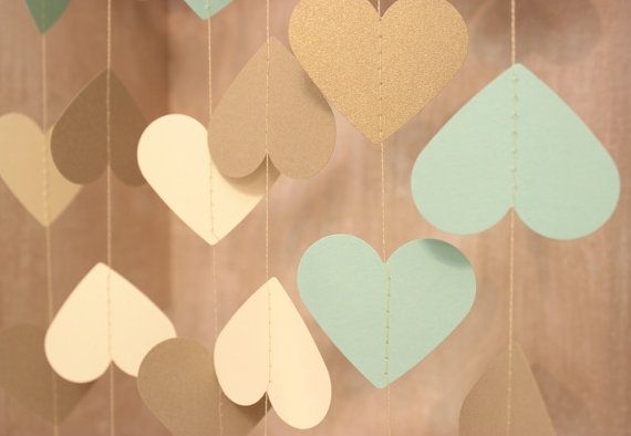 Hey, I found this really awesome Etsy listing at https://www.etsy.com/listing/158633727/wedding-garland-mint-green-gold-cream