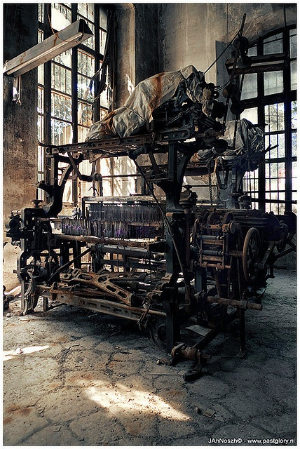 """I don't know where this """"abandoned textile factory"""" is. I have checked the first 4 board pages and it hasn't been repinned, so hopefully it doesn't appear anywhere. I love it. S"""
