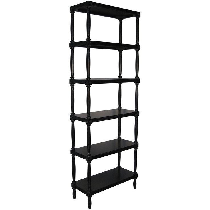 Buy Bookshelf in Hand Rubbed Black finish by Lori Graham Home - Sample designer Furniture from Dering Hall's collection of Traditional Transitional Bookcases & Étageres.