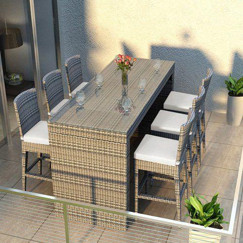 Harmonia Living Urbana 7 Piece Outdoor Bar Set | from hayneedle.com