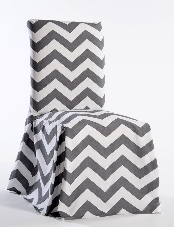 Chevron Printed Dining Chair Cover Cotton By Diningchairdress
