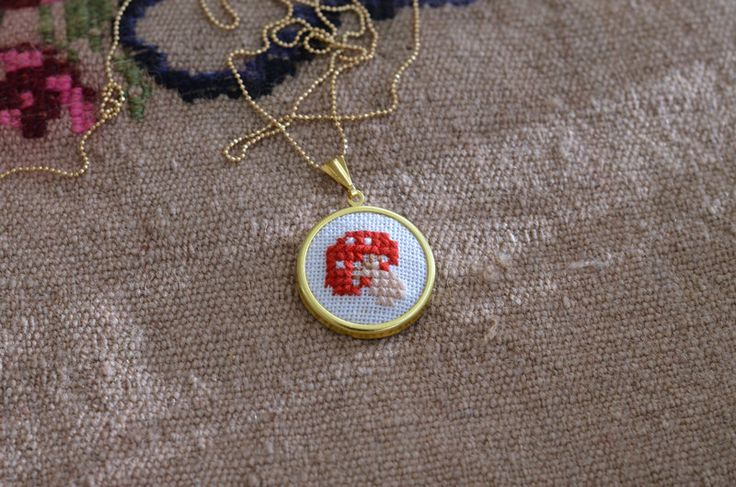 A personal favorite from my Etsy shop https://www.etsy.com/listing/222808736/mushroom-necklace