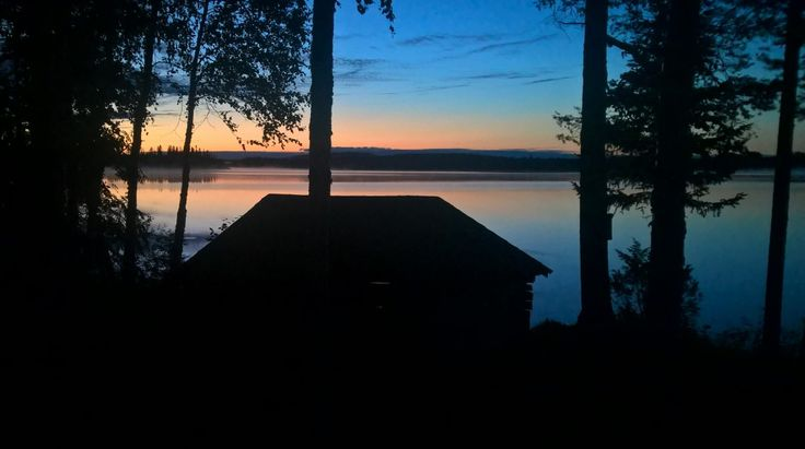 Midnight Sun in Pello in Lapland Finland