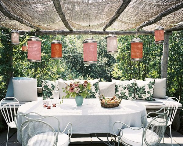 Outdoor Spaces-27-1 Kind Design >> Love the awning! Natural linen, maybe?