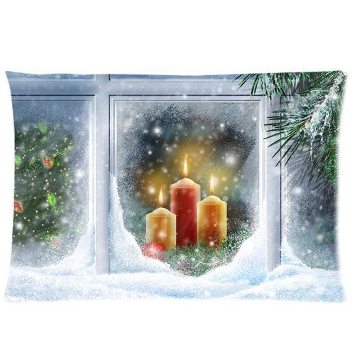 Merry Christmas Perfect Home Decoration Gift Custom Zippered Pillow Case 20x30 Twin sides ** This is an Amazon Affiliate link. Want additional info? Click on the image.