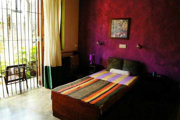 Bedroom no 2 .. high ceilings..open to the main garden