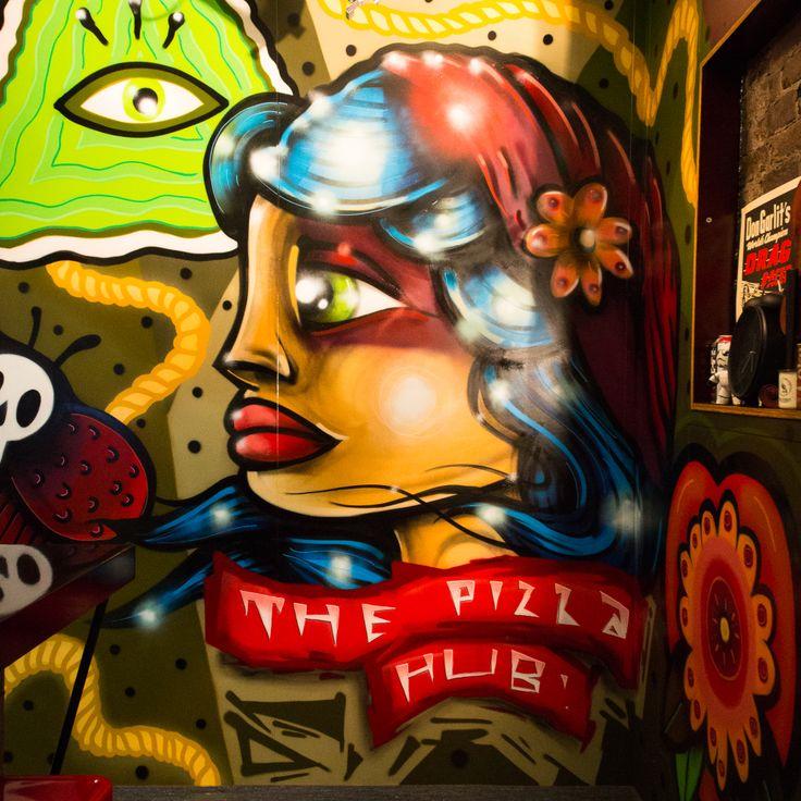 Graffiti and pizza at the Pizza Hub - #Newcastle #Food #Graffiti