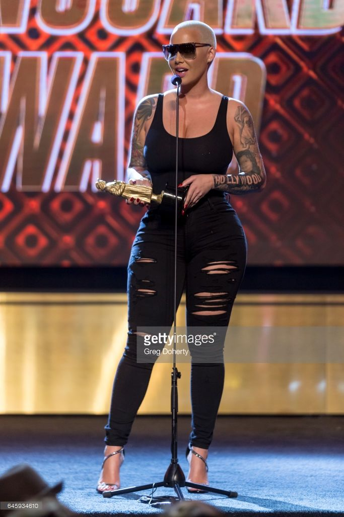 Amber Rose receives an award at the 2nd Annual All Def Movie Awards at Belasco Theatre on February 22, 2017 in Los Angeles, California.