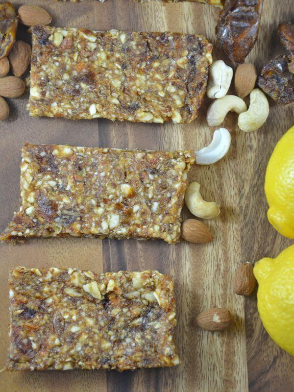 4-Ingredient Homemade Lemon Pie Larabars! Vegan, gluten-free and paleo. http://www.runningonrealfood.com/lemon-pie-larabars-vegan-paleo-gluten-free/
