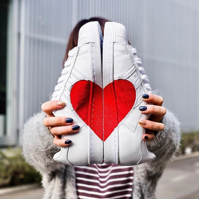 ADIDAS SUPERSTAR 80S VALENTINES DAY HALF