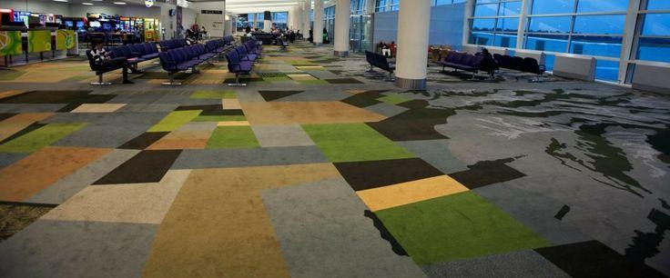 Christchurch International Airport: Custom designed Axminster carpet by Irvine Flooring