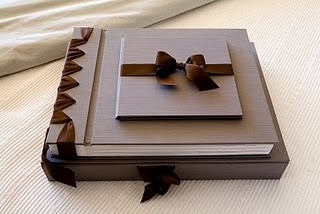 Cypress self mount albums with silk cover and swiss imported ribbon.  All colours...beautiful and classic!