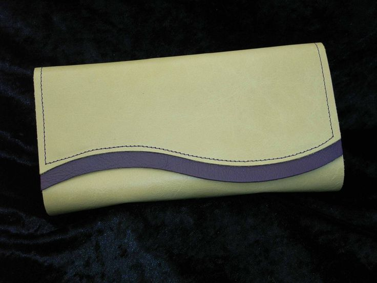 Green soft leather with mulberry trim