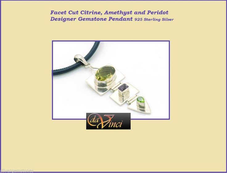 Sterling Silver Gemstone facet cut Citrine only $80 on Ebay
