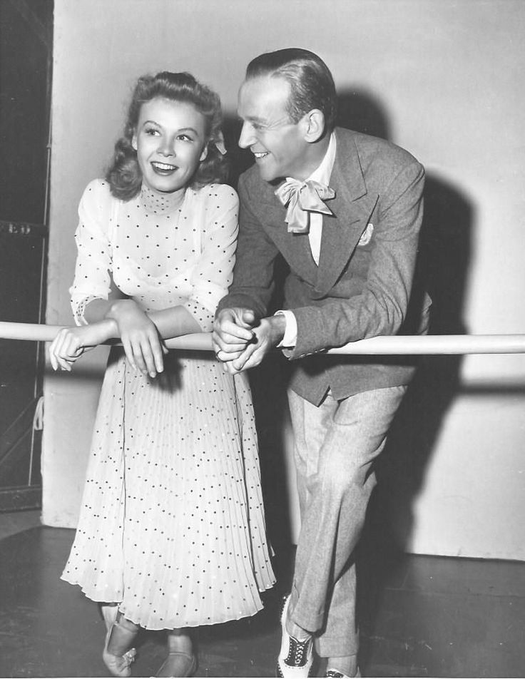 Vera-Ellen and Fred Astaire on the set of Three Little Words (1950)