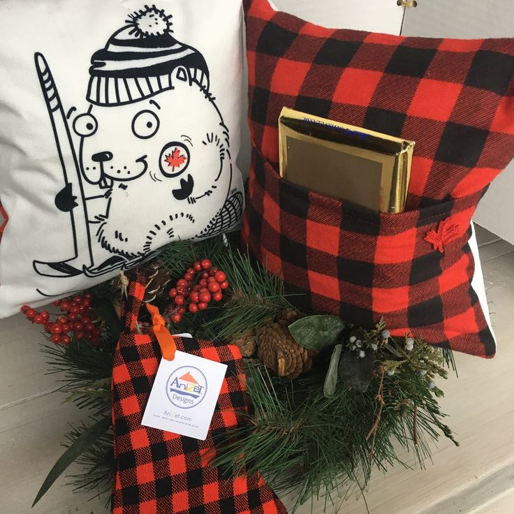 """New AniZet's 10"""" pocket pillows ... Cute bold designs and a back pocket for your favorite things, remote, book, small devices and more."""