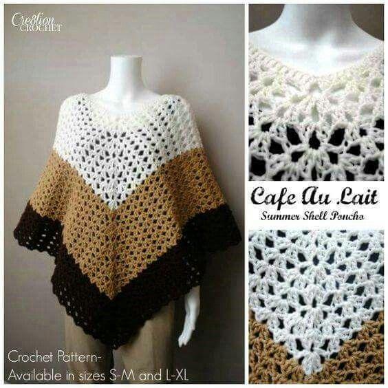 Mejores 114 imágenes de capas y ponchos de crochet en Pinterest ...