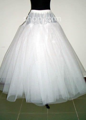NEW White 3 layer No Hoop Wedding dress Bridal Crinoline Petticoat Underskirt