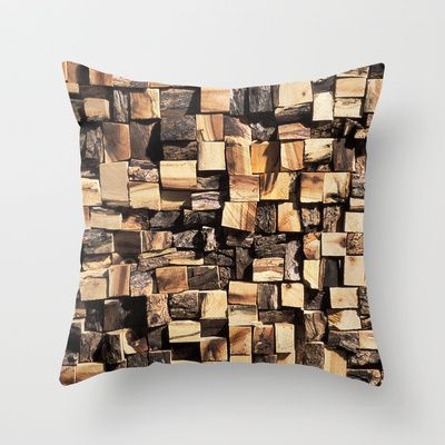 Woodcut Throw Pillow by The Play Dough Lady - $20.00