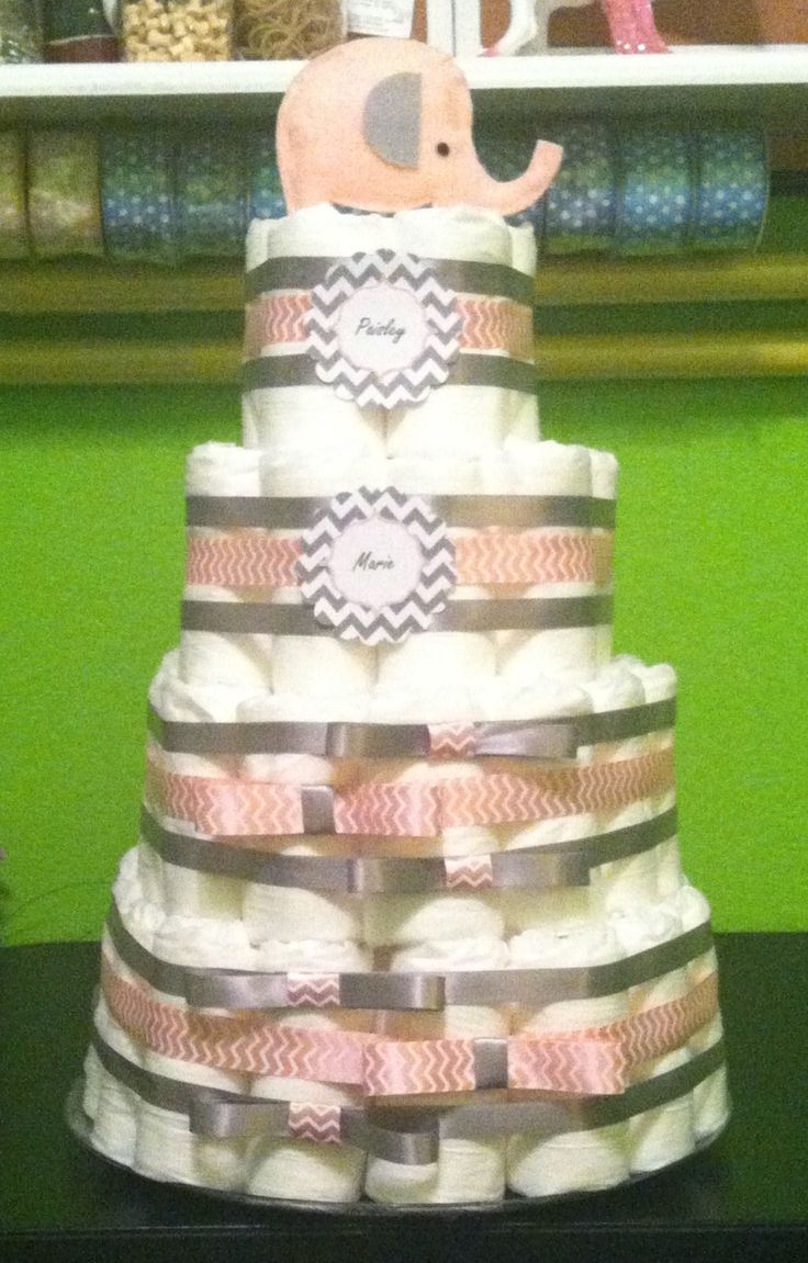 29 Best Diaper Cakes Images On Pinterest Baby Showers