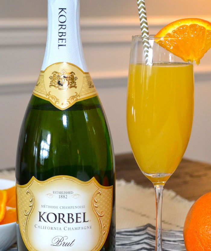 Break out the bubbly for the Classic Mimosa. Learn how to make this cocktail and share the recipe with your friends!  INGREDIENTS 1 oz KORBEL® BRUT CALIFORNIA CHAMPAGNE 2 oz orange juice  HOW TO MAKE IT Add orange juice to champagne flute and top with chilled KORBEL® BRUT CALIFORNIA CHAMPAGNE.