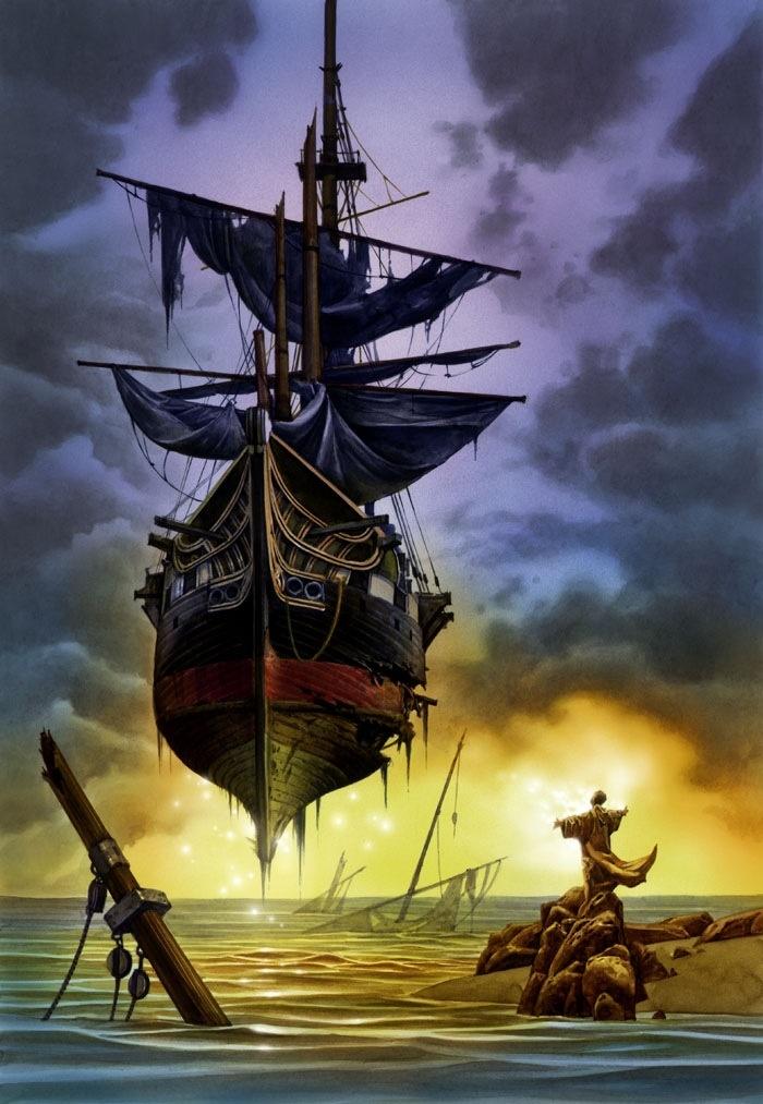 "Floating ship - ""Flying Dutchman"""