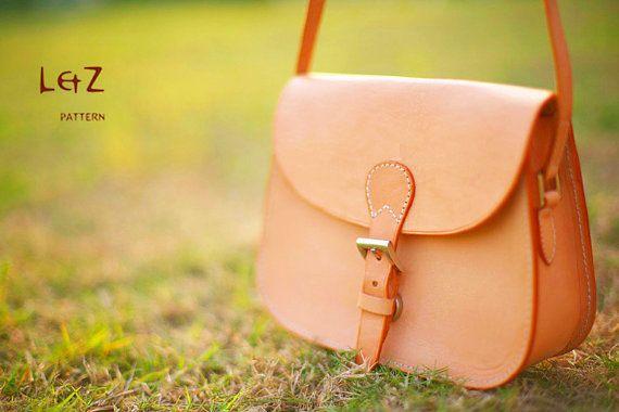 With instruction- Sewing pattern / saddle bag patterns PDF BXK-07  LZpattern design hand stitched leather