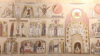 Iconography - orthodox iconography unfinished sketch.