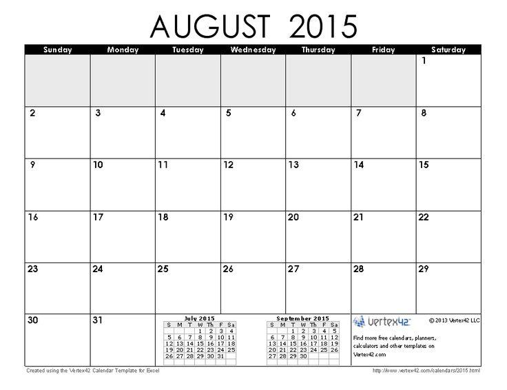 download a free august 2015 calendar from vertex42 com