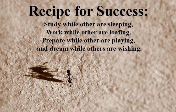 Recipe for #success: