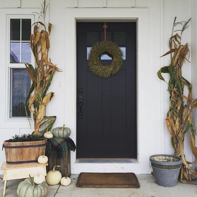 Modern Exterior Paint Colors: Ben Moore Onyx Paint For Front Door