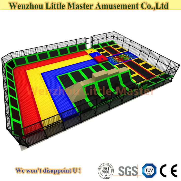 (LM-Tr005) Wenzhou Little Master Customized Big Trampoline PP Mesh for Sale