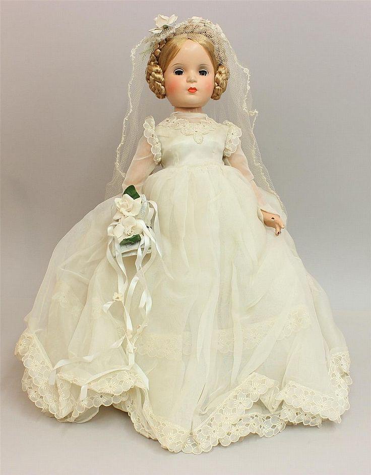 1946 Madame Alexander Composition bride doll with Margaret face.