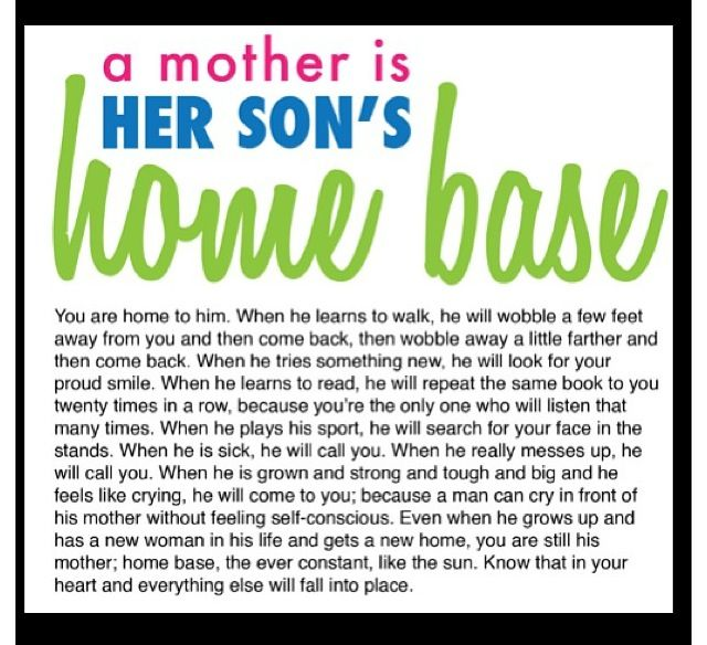 Quote About Sons And Mothers: A Mother Is Her Son's Home Base